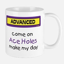 Come on Ace Holes Mug (Purple and Yellow)