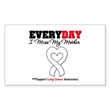 LungCancer MissMyMother Rectangle Sticker