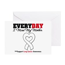 LungCancer MissMyMother Greeting Card