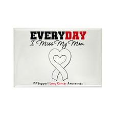 LungCancer MissMyMom Rectangle Magnet (100 pack)