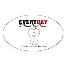 LungCancer MissMyMom Oval Sticker (10 pk)