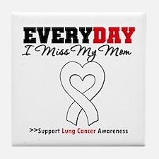 LungCancer MissMyMom Tile Coaster