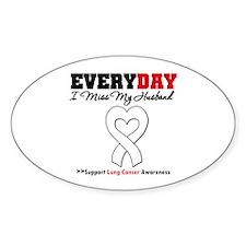 LungCancer MissMyHusband Oval Sticker (10 pk)