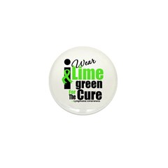 I Wear Lime Green For The Cure Mini Button