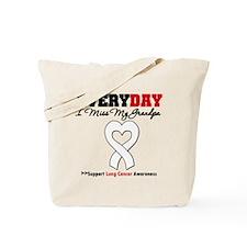 LungCancer MissMyGrandpa Tote Bag
