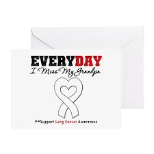 LungCancer MissMyGrandpa Greeting Card