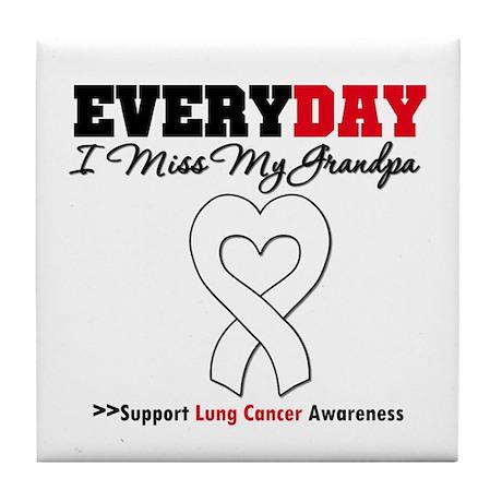 LungCancer MissMyGrandpa Tile Coaster