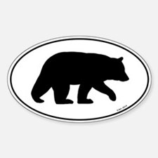 Black Bear Oval Decal