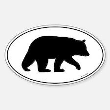 Black Bear Oval Sticker (50 pk)