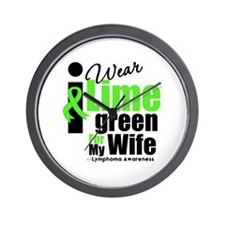 I Wear Lime Green For Wife Wall Clock