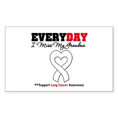 LungCancer MissMyGrandma Rectangle Sticker