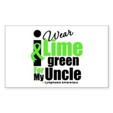 I Wear Lime Green For My Uncle Rectangle Decal
