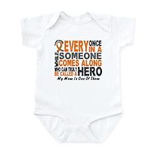 HERO Comes Along 1 Mom LEUKEMIA Infant Bodysuit