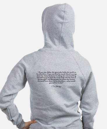 Who is John Galt? Atlas Shrugged Zip Hoodie