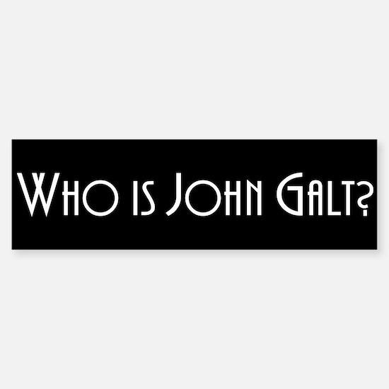 Who is John Galt? Atlas Shrugged Bumper Car Car Sticker