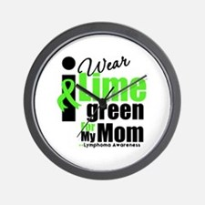 I Wear Lime Green For My Mom Wall Clock