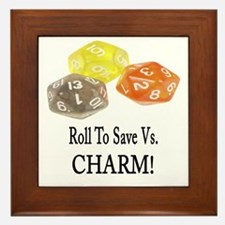 Save Vs CHARM Framed Tile
