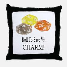 Save Vs CHARM Throw Pillow