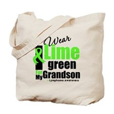 I Wear Lime Green For Grandson Tote Bag