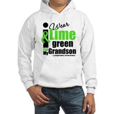 I Wear Lime Green For Grandson Hoodie