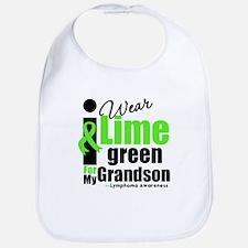 I Wear Lime Green For Grandson Bib