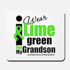 I Wear Lime Green For Grandson Mousepad
