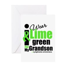 I Wear Lime Green For Grandson Greeting Card