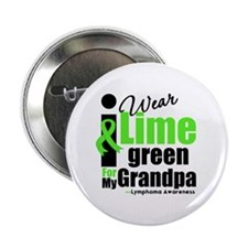 """I Wear Lime Green Grandpa 2.25"""" Button (10 pack)"""