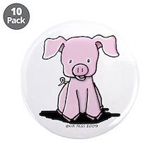 """Sittin' Piggie 3.5"""" Button (10 pack)"""