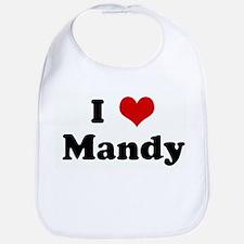 I Love Mandy Bib