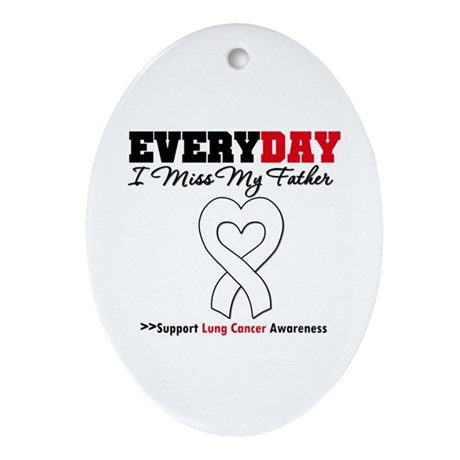 LungCancer Father Oval Ornament