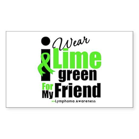 I Wear Lime Green Friend Rectangle Sticker
