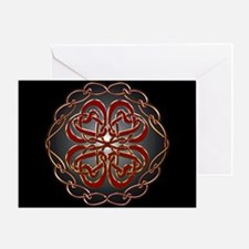 Celtic Knot Hearts Greeting Card