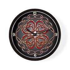 Celtic Knot Hearts Wall Clock