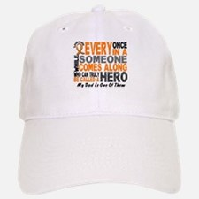 HERO Comes Along 1 Dad LEUKEMIA Baseball Baseball Cap