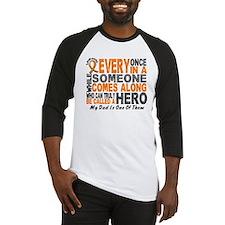 HERO Comes Along 1 Dad LEUKEMIA Baseball Jersey