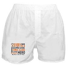 HERO Comes Along 1 Dad LEUKEMIA Boxer Shorts