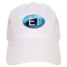 EI Emerald Isle, NC Beach Oval Baseball Cap