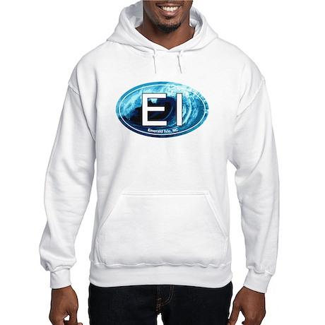 EI Emerald Isle, NC Beach Oval Hooded Sweatshirt