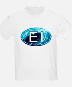EI Emerald Isle, NC Beach Oval T-Shirt