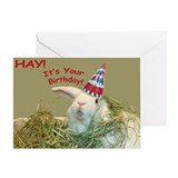 Bunny happy birthday Greeting Cards