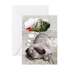 Bunny Birthday Dreams Greeting Card