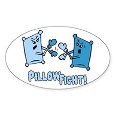 Pillow Fight Oval Decal