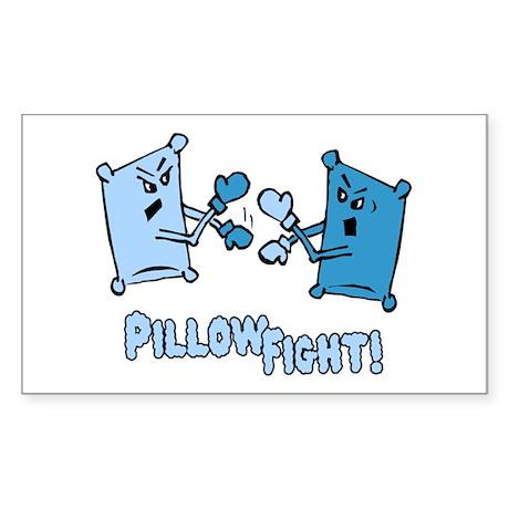 Pillow Fight Rectangle Sticker