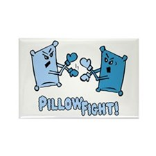 Pillow Fight Rectangle Magnet