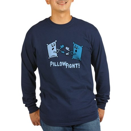Pillow Fight Long Sleeve Dark T-Shirt