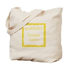 WARNING: Twilight Addict Tote Bag
