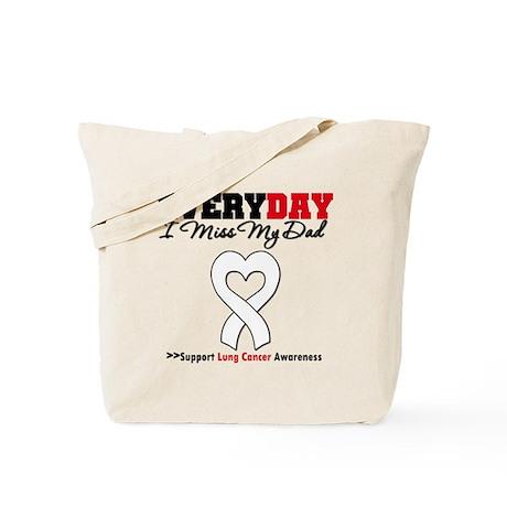 LungCancer MissMyDad Tote Bag