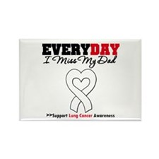 LungCancer MissMyDad Rectangle Magnet