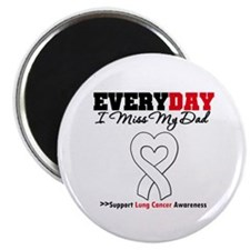 """LungCancer MissMyDad 2.25"""" Magnet (10 pack)"""